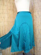 *WYETH by Todd Magill* Autumn/Winter Teal Silk Charmeuse Skirt Sz 4 Lovely