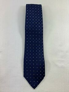 Geoffrey Beene Silk Blue Dot Tie