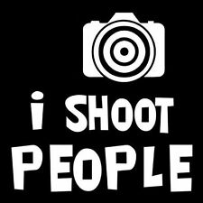 I SHOOT PEOPLE (photographer camera go pro film vintage slider reverse) T-SHIRT