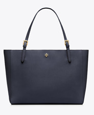 Tory Burch Large York Buckle Tote in Black Saffiano Leather Laptop bag New