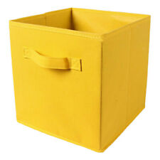 Fabric Foldable Storage Cubes Cubby Organizer Box Basket Container Yellow
