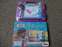 DISNEY JUNIORS DOC MCSTUFFINS MAGNETIC DRAWING BOARD AND 22 PAGE STORYBOOK B NEW