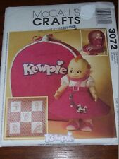 McCALL'S #3072 - KEWPIE DOLL BLOUSE- SKIRT- SHOES- BELT & ACCESSORIES PATTERN FF