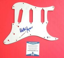 AC/DC - MALCOLM  YOUNG SIGNED FENDER STRATOCASTER GUITAR PICKGUARD WITH BAS COA
