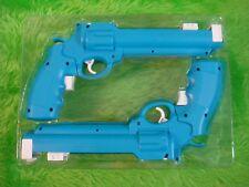 Wii Revolver Guns X2 Azul Salvaje Oeste Pistolas nuevo tirador de pistola de luz sin juego