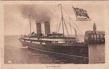 Postcard Ship SS Viking Isle of Man Steam Packet Co