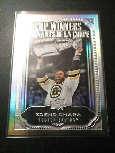 2020-21 Tim Horton's Cup Winners ZDENO CHARA CW-12 Hockey Card Boston Bruins