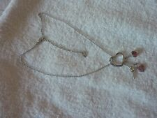 Genuine Swarovski Love Charm Rhodium Plated Pendant Necklace