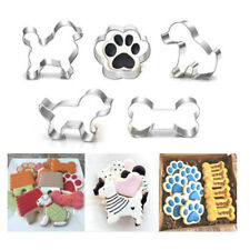 Pet Dog Bone Paw Cookie Biscuit Cutter Stainless Steel Mould Baking Decor Lovely