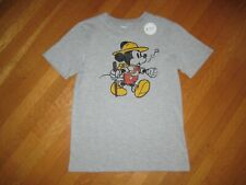 NEW Disney Mickey Mouse boy's gray t-shirt top 10 years camping hiking vintage