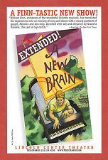 """Kristin Chenoweth """"A NEW BRAIN"""" William Finn / Chip Zien / Norm Lewis 1998 Flyer"""