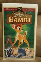 FULLY RESTORED LIMITED EDITION 55TH ANNIVERSARY DISNEY'S MASTERPIECE BAMBI VHS