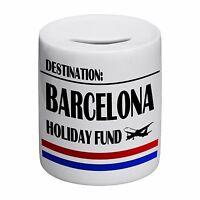 Destination Barcelona Holiday Fund Novelty Ceramic Money Box