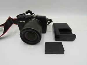 Canon EOS M 18.0MP Digital Camera - Black Kit w/ EF-M STM 18-55mm Lens