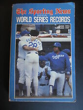 VINTAGE SPORTING NEWS BASEBALL  WORLD SERIES RECORD BOOK 1903-1981 DODGERS COVER
