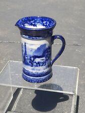 Rare Royal Doulton Switzerland Pattern Blue and White Jug