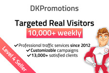 Web Traffic 10,000 weekly to your website