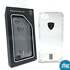 Genuine Official Lamborghini Tricolor-D7 Clear Back Cover Case for iPhone 6 7 8