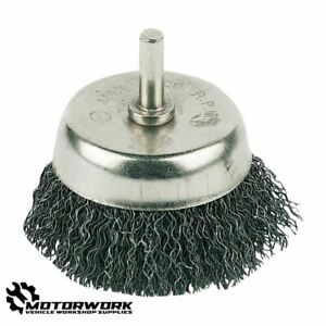 POWER DRILL HIGH TENSILE STEEL WIRE CUP BRUSH RUST / PAINT REMOVAL