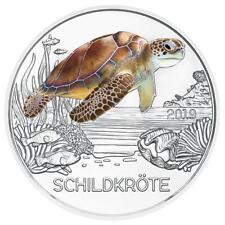 Österreich - 3 Euro - Schildkröte - Tier-Taler 2019 Handgehoben