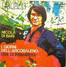"""NICOLA DI BARI """"I GIORNI DELL'ARCOBALENO"""" 45' Italy mint"""