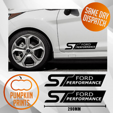 x2 FORD ST Performance FOCUS FIESTA Mondeo Bumper spoiler Decal Stickers 290MM