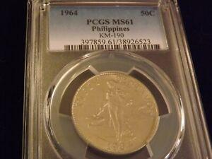 1964  50C    Philippines         PCGS MS 61
