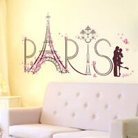 Home Wall Sticker Paris Eiffel Tower Romantic Removable PVC Room Decor Art DIY