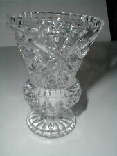 "Duchin Creation Sterling Silver Base Floral & Wheat Cut Crystal 10"" Bud Vase"