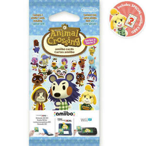 Animal Crossing New Horizons Amiibo Card Pack Series 3 - Switch Compatible!