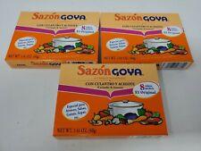 Goya Sazon Con Culantro Y Achiote - Seasoning Coriander & Annatto  Lot of 3