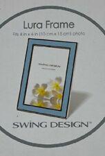 Lura Frame Swing Design Lura Picture Frame Enamel 4 x 6 Photo In light Blue