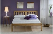 Classic Wooden Shaker Style Bed Rustic Pine Or White Washed Finish 3FT 4FT 4FT6