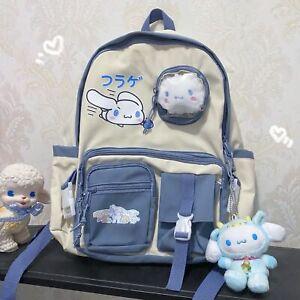 Cute Cinnamoroll Dog Backpack My Melody Schoolbag Teenage Shoulder Travel Bag