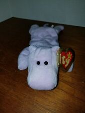 Ty Beanie Baby Happy the Hippo PVC Tag Error Retired Clear Sticker Tush Tag RARE