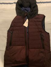 Mens scotch and soda Burgundy Puffer Vest Size S