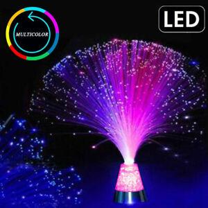 Glasfaserlicht Lampe LED mit Farbwechsel Lichtfaser Dekoleuchte Fiberglas  Bunt