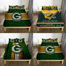 Green Bay Packers Fitted Sheet 3PCS Bed Sheet & Pillowcase Fans Bedding sets