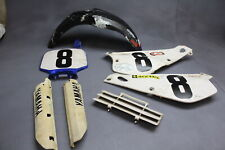 2001 Yamaha Yz80 Partial Plastics Body Kit Fenders Fairings Cowls