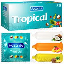 Pasante Tropical Flavored condoms Mango Pineapple Coconut  x 1 3 20 10 30 50 100