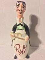 Vintage Mid Century French Waiter Somalier Rye Bourbon Bottle Decanter EMPTY