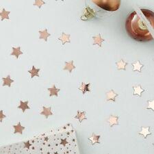 ROSE GOLD STAR SHAPED CONFETTI - METALLIC STAR, Wedding, Party, Tableware