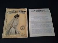 Magazine McCall's June 1907 Great Fashion & Ads W/ Letter From The McCall Co.