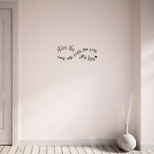Love The Life You Live Infinity Symbol Inspirational Wall Art Sticker Decal
