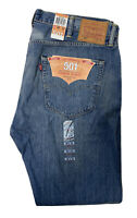 NWT Levi's 501 Button Fly Straight Leg Jeans Mens 40 X 34 Vtg Blue Denim NOS New