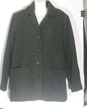 0aaf495cd50e5 Eileen Fisher Wool Melton Jacket Coat Small S Forest Green Lined Pockets