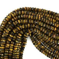 "8mm faceted tiger eye rondelle beads 15.5"" strand"