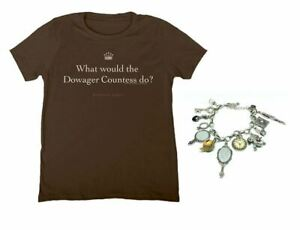 Downton Abbey T shirt Charm Bracelet LOT What would the Dowager Countess do?