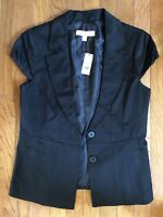 NEW YORK & COMPANY - Women's Size 6  - Cap Sleeve Fashion Vest, Black, Lined NWT