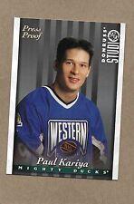 paul kariya mighty ducks 1997/98 #4 studio silver press proof 1 of 1000 card